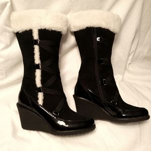 Cole haan with nike leather and sheepskin boots